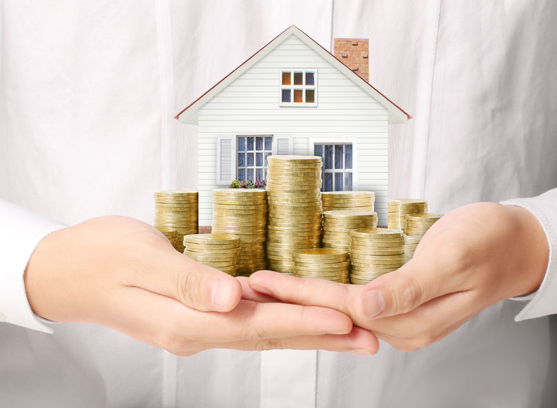 40242504 - mortgage concept by money house from the coins